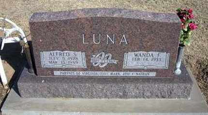 MOYER LUNA, WANDA FERN - Grant County, Kansas   WANDA FERN MOYER LUNA - Kansas Gravestone Photos