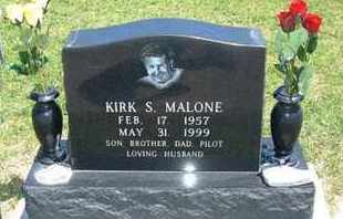 MALONE, KIRK S - Grant County, Kansas | KIRK S MALONE - Kansas Gravestone Photos