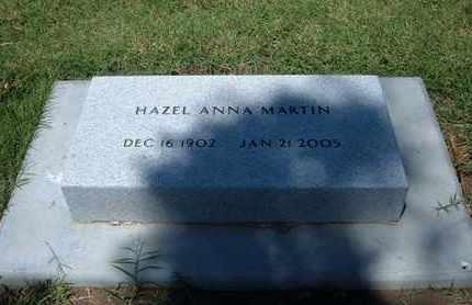MARTIN, HAZEL ANNA - Grant County, Kansas | HAZEL ANNA MARTIN - Kansas Gravestone Photos