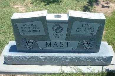 WARREN MAST, ARLONE W - Grant County, Kansas | ARLONE W WARREN MAST - Kansas Gravestone Photos