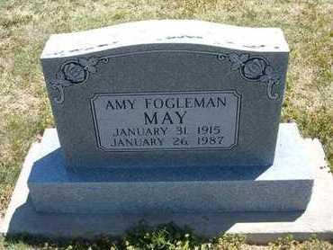 FOGLEMAN MAY, AMY - Grant County, Kansas   AMY FOGLEMAN MAY - Kansas Gravestone Photos