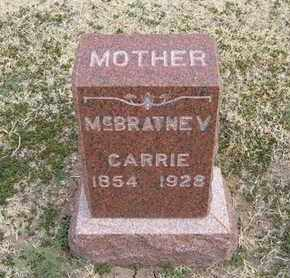 "MCBRATNEY, CAROLINE J ""CARRIE"" - Grant County, Kansas   CAROLINE J ""CARRIE"" MCBRATNEY - Kansas Gravestone Photos"