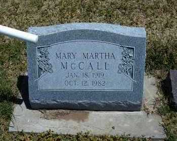 MCCALL, MARY MARTHA - Grant County, Kansas | MARY MARTHA MCCALL - Kansas Gravestone Photos