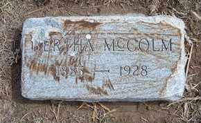 MCCOLM, BERTHA - Grant County, Kansas | BERTHA MCCOLM - Kansas Gravestone Photos