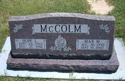 MCCOLM, MAX M. - Grant County, Kansas | MAX M. MCCOLM - Kansas Gravestone Photos