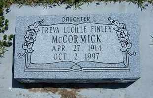 FINLEY MCCORMICK, TREVA LUCILLE - Grant County, Kansas | TREVA LUCILLE FINLEY MCCORMICK - Kansas Gravestone Photos