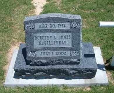 JONES MCGILLIVRAY, DOROTHY L - Grant County, Kansas | DOROTHY L JONES MCGILLIVRAY - Kansas Gravestone Photos