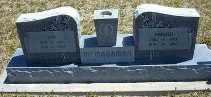 MCMANAMAN, MILLIE JANE - Grant County, Kansas | MILLIE JANE MCMANAMAN - Kansas Gravestone Photos