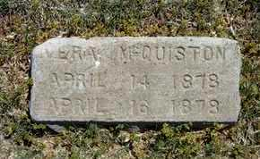 MCQUISTON, VERA - Grant County, Kansas | VERA MCQUISTON - Kansas Gravestone Photos