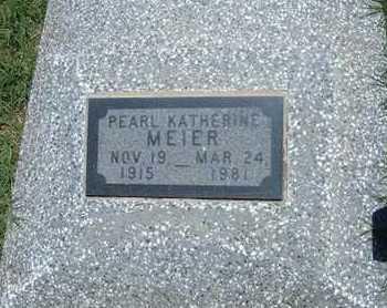 MEIER, PEARL KATHERINE - Grant County, Kansas | PEARL KATHERINE MEIER - Kansas Gravestone Photos