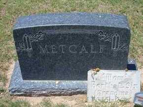 METCALF FAMILY GRAVESTONE,  - Grant County, Kansas    METCALF FAMILY GRAVESTONE - Kansas Gravestone Photos