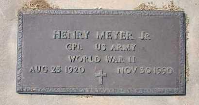 MEYER, HENRY, JR   (VETERAN WWII) - Grant County, Kansas   HENRY, JR   (VETERAN WWII) MEYER - Kansas Gravestone Photos