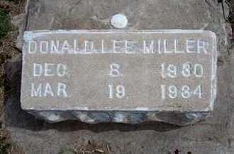 MILLER, DONALD LEE - Grant County, Kansas | DONALD LEE MILLER - Kansas Gravestone Photos