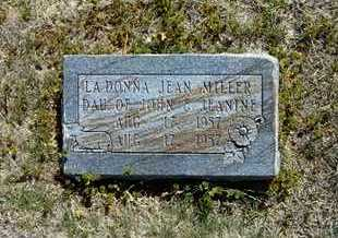MILLER, LADONNA JEAN - Grant County, Kansas   LADONNA JEAN MILLER - Kansas Gravestone Photos