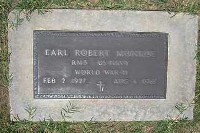MONROE, EARL ROBERT   (VETERAN WWII) - Grant County, Kansas   EARL ROBERT   (VETERAN WWII) MONROE - Kansas Gravestone Photos
