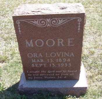 MOORE, ORA LEVINA - Grant County, Kansas | ORA LEVINA MOORE - Kansas Gravestone Photos