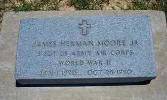 MOORE, JAMES HERMAN, JR   (VETERAN WWII) - Grant County, Kansas | JAMES HERMAN, JR   (VETERAN WWII) MOORE - Kansas Gravestone Photos