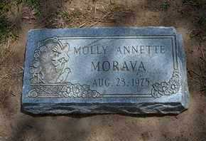 MORAVA, MOLLY ANNETTE - Grant County, Kansas | MOLLY ANNETTE MORAVA - Kansas Gravestone Photos
