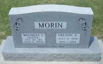 OLIVER MORIN, WAUNETA I - Grant County, Kansas | WAUNETA I OLIVER MORIN - Kansas Gravestone Photos
