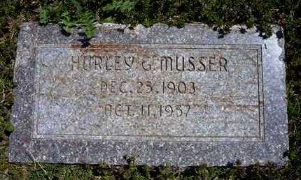 MUSSER, HURLEY G - Grant County, Kansas | HURLEY G MUSSER - Kansas Gravestone Photos