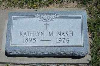 NASH, KATHLYN M - Grant County, Kansas | KATHLYN M NASH - Kansas Gravestone Photos