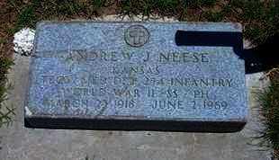 NEESE, ANDREW J   (VETERAN WWII) - Grant County, Kansas   ANDREW J   (VETERAN WWII) NEESE - Kansas Gravestone Photos