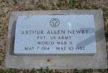 NEWBY, ARTHUR ALLEN   (VETERAN WWII) - Grant County, Kansas | ARTHUR ALLEN   (VETERAN WWII) NEWBY - Kansas Gravestone Photos