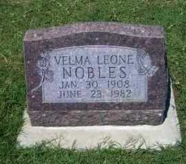 NOBLES, VELMA LEONE - Grant County, Kansas | VELMA LEONE NOBLES - Kansas Gravestone Photos