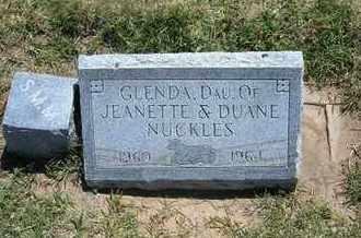 NUCKLES, GLENDA - Grant County, Kansas | GLENDA NUCKLES - Kansas Gravestone Photos