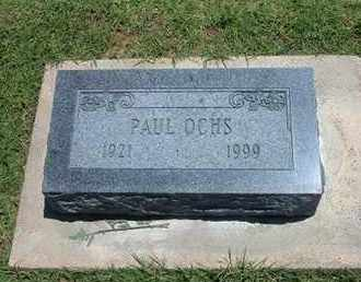 OCHS, PAUL - Grant County, Kansas   PAUL OCHS - Kansas Gravestone Photos