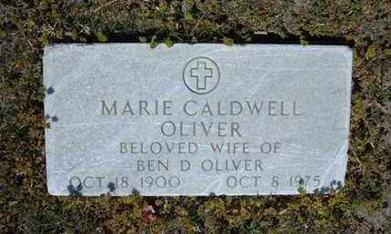 CALDWELL OLIVER, MARIE - Grant County, Kansas | MARIE CALDWELL OLIVER - Kansas Gravestone Photos
