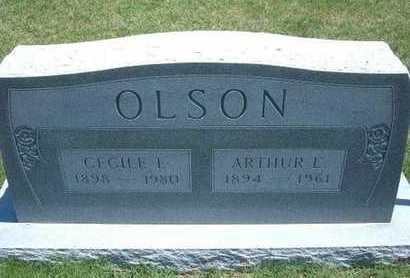 OLSON, ARTHUR E - Grant County, Kansas | ARTHUR E OLSON - Kansas Gravestone Photos