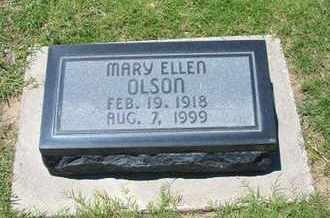 OLSON, MARY ELLEN - Grant County, Kansas   MARY ELLEN OLSON - Kansas Gravestone Photos