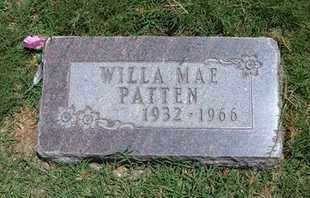 PATTEN, WILLA MAE - Grant County, Kansas | WILLA MAE PATTEN - Kansas Gravestone Photos