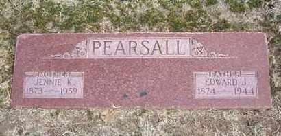 KLICK PEARSALL, JENNIE MAY - Grant County, Kansas | JENNIE MAY KLICK PEARSALL - Kansas Gravestone Photos