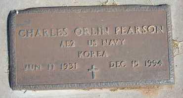 PEARSON, CHARLES ORLIN   (VETERAN KOR) - Grant County, Kansas | CHARLES ORLIN   (VETERAN KOR) PEARSON - Kansas Gravestone Photos