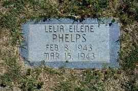 PHELPS, LELIA EILENE - Grant County, Kansas   LELIA EILENE PHELPS - Kansas Gravestone Photos