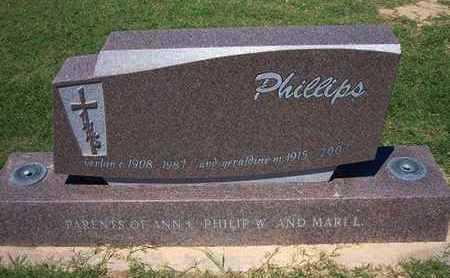 "PHILLIPS, GERALDINE ""JERRY"" - Grant County, Kansas   GERALDINE ""JERRY"" PHILLIPS - Kansas Gravestone Photos"