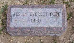 POPE, WESLEY EVERETT - Grant County, Kansas | WESLEY EVERETT POPE - Kansas Gravestone Photos