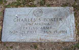 PORTER, CHARLES S   (VETERAN) - Grant County, Kansas | CHARLES S   (VETERAN) PORTER - Kansas Gravestone Photos