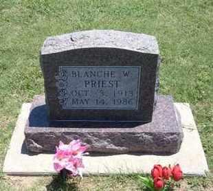 PRIEST, BLANCHE W. - Grant County, Kansas | BLANCHE W. PRIEST - Kansas Gravestone Photos