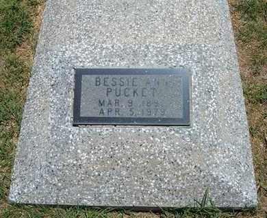 PUCKET, BESSIE ANN - Grant County, Kansas | BESSIE ANN PUCKET - Kansas Gravestone Photos