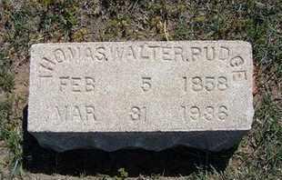 PUDGE, THOMAS WALTER - Grant County, Kansas | THOMAS WALTER PUDGE - Kansas Gravestone Photos