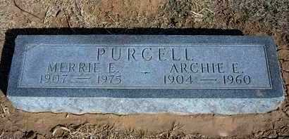 PURCELL, ARCHIE EDWARD - Grant County, Kansas | ARCHIE EDWARD PURCELL - Kansas Gravestone Photos