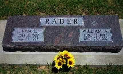 RADER, VIVA L - Grant County, Kansas   VIVA L RADER - Kansas Gravestone Photos
