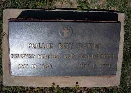 RAMEY, POLLIE ROY - Grant County, Kansas | POLLIE ROY RAMEY - Kansas Gravestone Photos