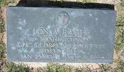 RAMEY, LON A  (VETERAN WWI) - Grant County, Kansas   LON A  (VETERAN WWI) RAMEY - Kansas Gravestone Photos