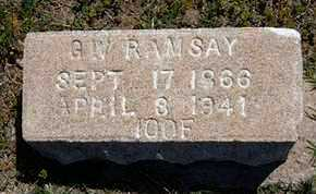 RAMSAY, GEORGE W - Grant County, Kansas | GEORGE W RAMSAY - Kansas Gravestone Photos