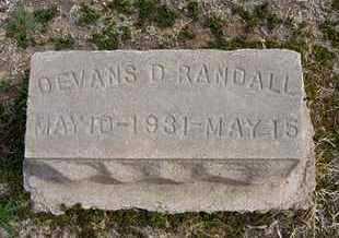 RANDALL, DEVANS D - Grant County, Kansas | DEVANS D RANDALL - Kansas Gravestone Photos