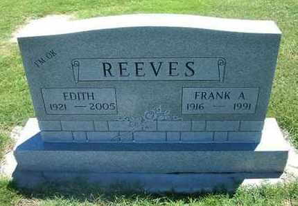 REEVES, EDITH - Grant County, Kansas | EDITH REEVES - Kansas Gravestone Photos